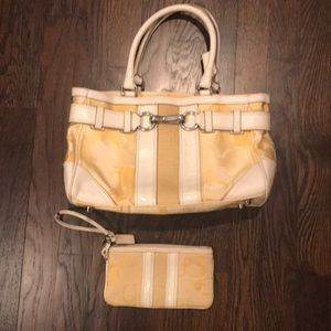 GUC coach bag and wallet wristlet